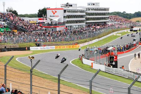 British Superbikes Racing at Brands Hatch - British Superbikes Racing Toward the Finish Line Editorial