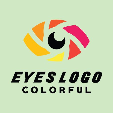 Modern Eye Logo Symbol And Icon