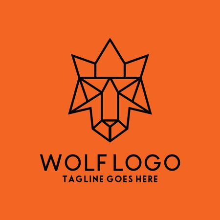 Wolf Line Logo Design Inspiration For Business And Company.
