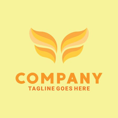 Wing Logo Design Inspiration For Business And Company. Stock Illustratie