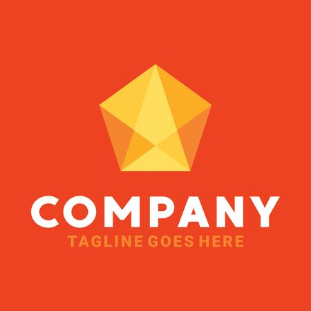 Colorful Crystal Logo Design Inspiration For Business And Company. Ilustrace