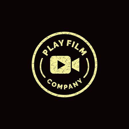 Film Logo Design Inspiration For Business And Company.  イラスト・ベクター素材