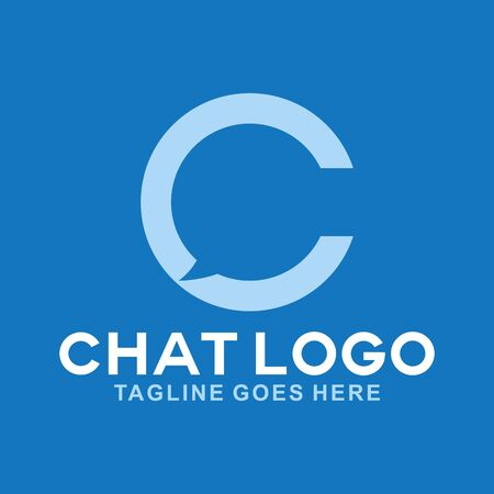 Letter C For Chat Logo Design Inspiration For Business And Company Illustration