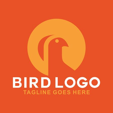 Orange Bird Logo Design Inspiration For Business And Company