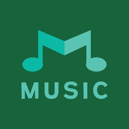 Music Logo Design Inspiration For Business And Company Иллюстрация