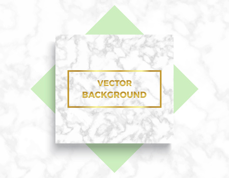 Marble textures with geometric elements banner backgrounds, golden gradient frame. Trendy minimalistic style vector illustrations for posters, placards, banners, covers.