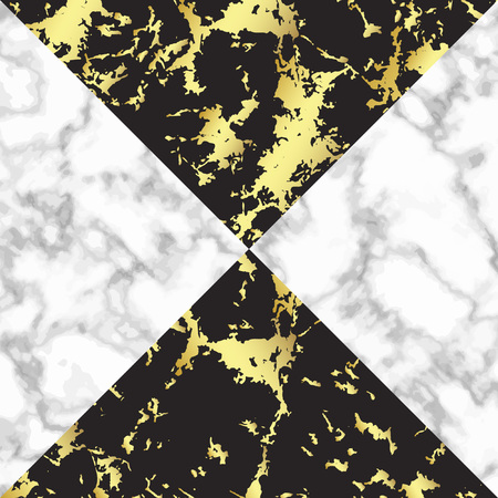 Marble background card in trendy black with white and black with gold marble texture. Good for poster, wallpaper, wedding invitation, banner, poster, flayer Illustration
