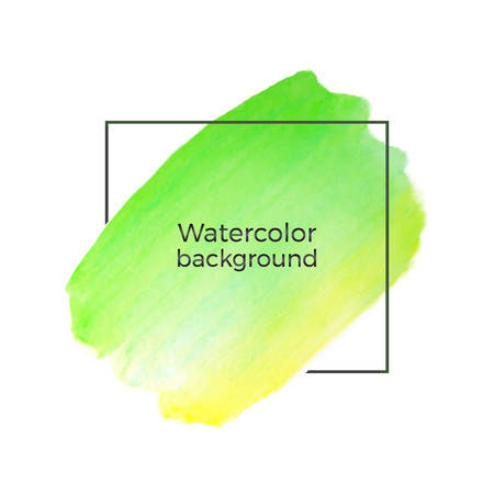 Abstract Lime Green, Yellow Watercolor On The White Background ...