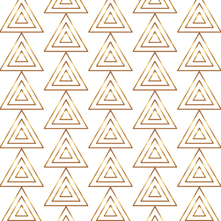 Seamless gold line geometric modern pattern. Background with triangles. Golden texture. 矢量图像