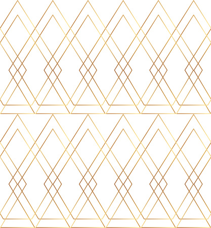 Geometric golden lines, seamless modern pattern. Background with rhombus