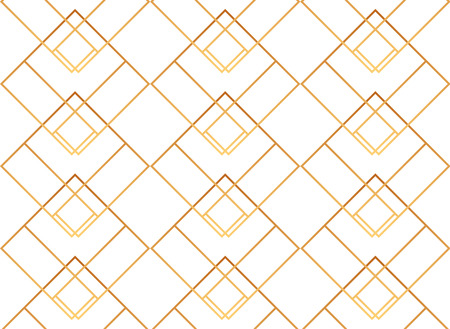 Seamless golden lines, geometric modern pattern. Background with rhombus