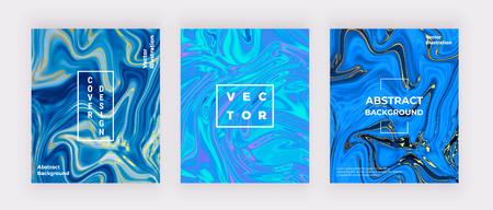 Struttura di marmo dell'acquerello blu liquido. Turbinii di inchiostro, sfondo di design increspature. Volantino, cartellone, festa, social media, invito, compleanno, matrimonio, banner, poster