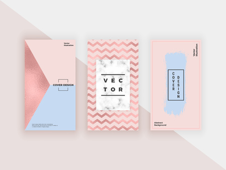 Fashion geometric templates for flyers, card, poster, banner, banner. Modern cover design with texture and lines