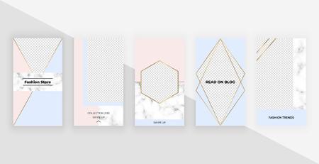 Fashion templates for social media Stories. Modern cover design for social media, flyers, card.