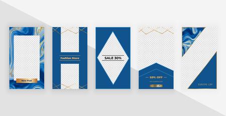 Template for social media Stories. Modern fashion cover design for social media, flyers.