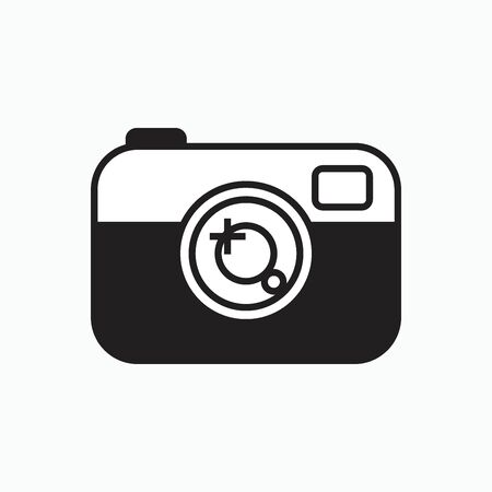 digital camera icon or logo isolated sign symbol vector illustration - Collection of high quality black style vector icons