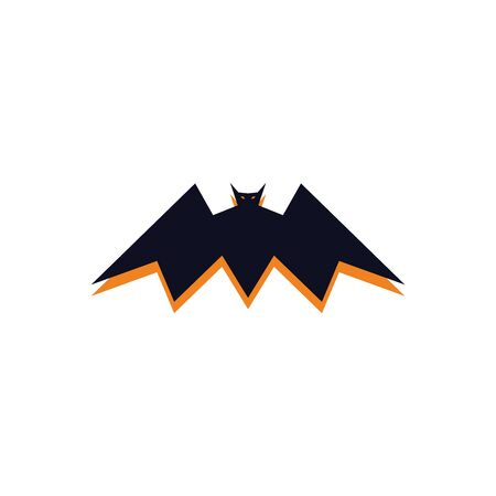 Bat icon flat and simple vector design white isolated