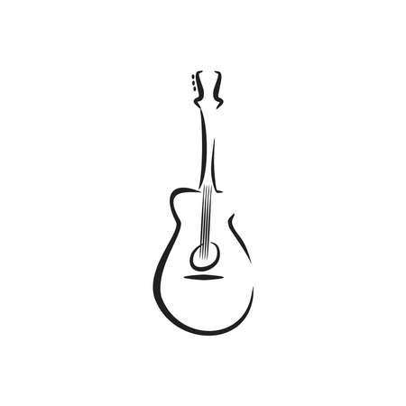 acoustic rock guitar illustration music symbol
