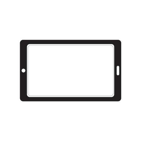 tablet silhouette icon concept