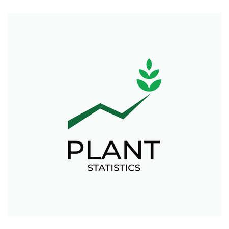 green leaf green plantation statistics logo or leaf icon ecology leaf statistic for industrial use