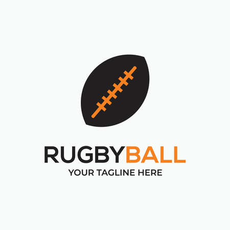 rugby sport ball - sport rugby logo for collection