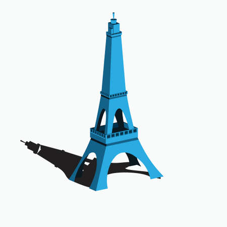 isometric eiffel tower - simple artificial tower - france icon 向量圖像