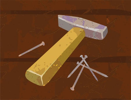 hammer and nails Illustration