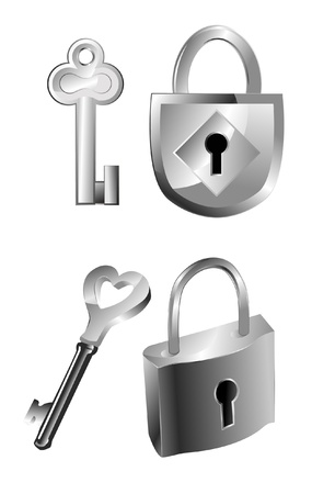 locks   keys Illustration