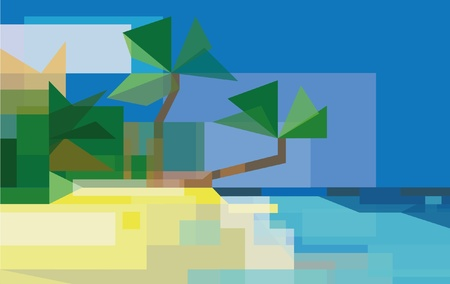 stylized seascape