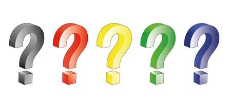 marvel: farbigen Fragezeichen