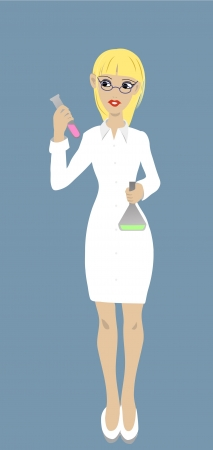 Female Scientist Stock Vector - 20466424