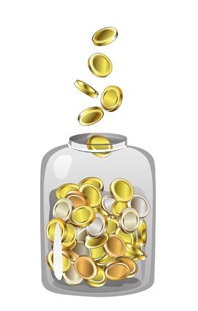 Jar Full of Coins Stock fotó - 20466429