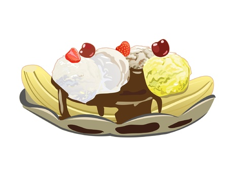 Banana split Stock Vector - 21045615