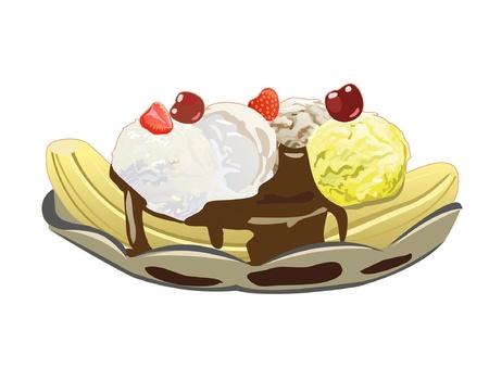 ice: Banana split