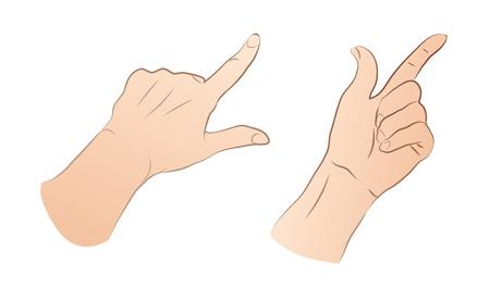 dedo indice: Apuntando Hands  Vectores
