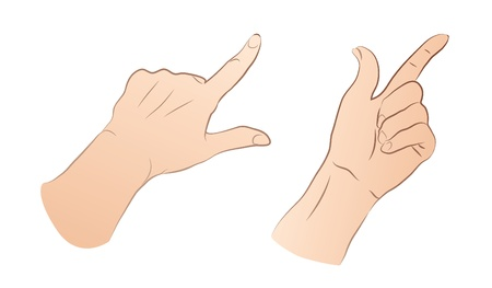 Pointing Hands Illustration
