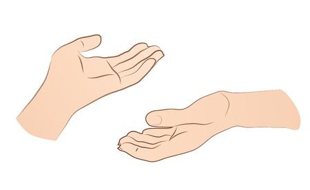 manos abiertas: Manos