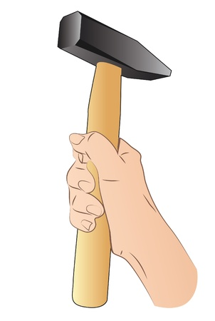 Hand With Hammer Stock Vector - 21386465