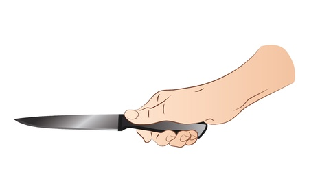 Hand With Knife Stock Vector - 21386466