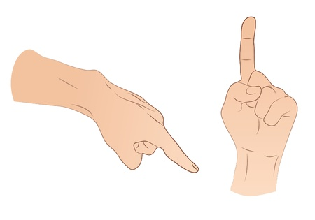 vote here: Pointing Hands Illustration
