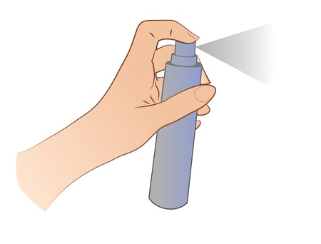 Hand Spraying Stock Vector - 21893561
