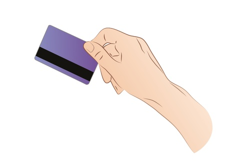 Hand Holding A Credit Card Stock Vector - 21893582