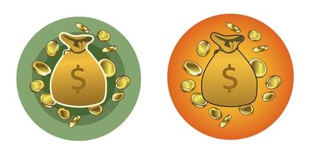 Money Bags Stock Vector - 22175741