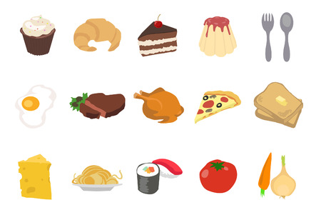 caf: Set Of Food Icons