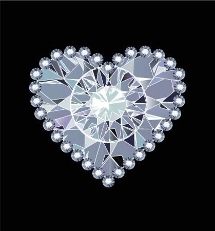 Diamond Heart Illustration