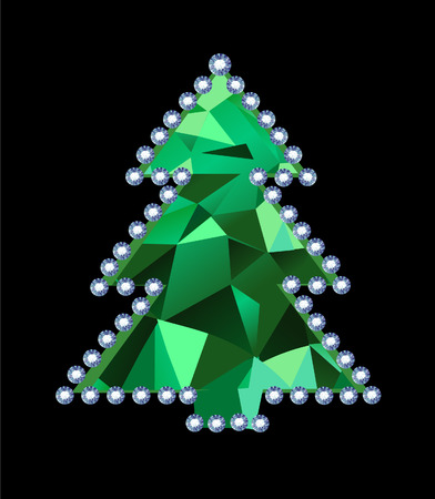 Diamond Tree Vector