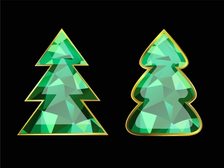 Emerald Christmas Tree Vector