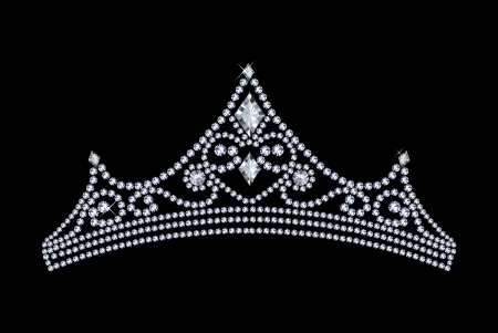 tiara decorated with jewels Stock Vector - 23516821
