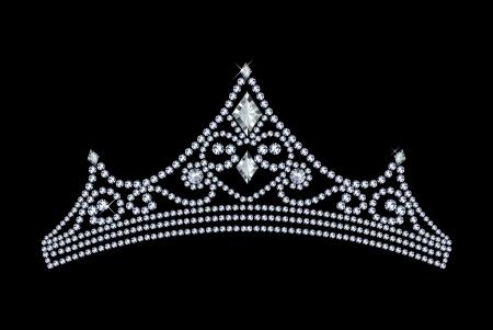 tiara: tiara decorated with jewels