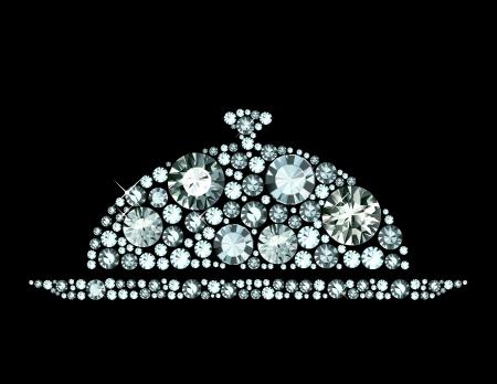 cloche: Diamond Restaurant Cloche